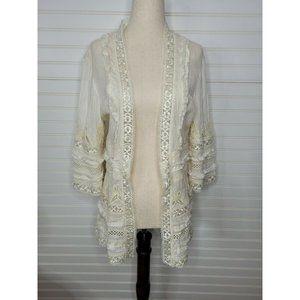 [Joolay] Anthropologie Lace Crochet Kimono M